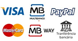 Visa Mastercard MB MB way Paypal Trf Bancaria